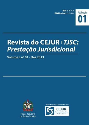Capa da Revista do CEJUR/TJSC: Prestação Jurisdicional